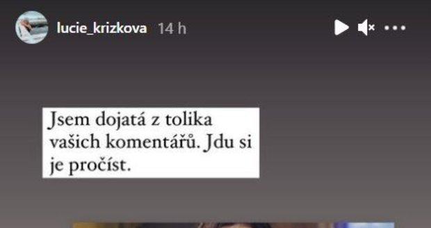 Archivní fotka Lucie Křížkové rozpoutala málem peklo