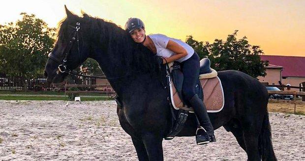 Hana Mašlíková a její kůň Dante