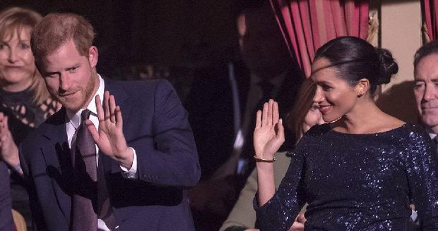 Princ Harry a Meghan v Royal Albert Hall v ten večer, kdy Meghan svému muži řekla o tom, že pomýšlí na sebevraždu