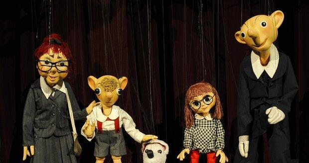 Loutky, které již roky baví děti v Divadle Spejbla a Hurvínka