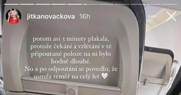 Jitka Nováčková poprvé po porodu dcery v Česku