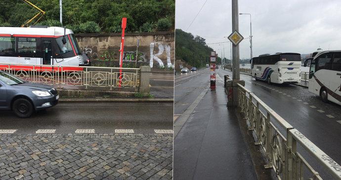 Dopravní komplikace v centru Prahy: Na nábřeží Edvarda Beneše se bude opravovat silnice