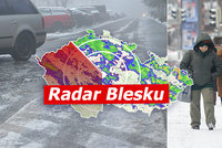Do Česka se vrátí sníh. Teploty spadnou znovu hluboko pod nulu, sledujte radar Blesku