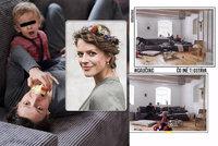 Andrea Růžičková ukázala středobod svého bydlení: Obří gauč a na stěně ukřižovaný Ježíš!