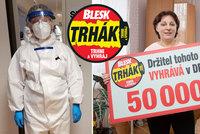 Zdravotní sestřička Anna (64) z uzavřeného Trutnova vyhrála v Trháku Blesku 50 tisíc: Plné hory a hotely, dvanáctky v ochranných oblecích, popsala situaci