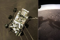 Vozítko z Marsu poslalo nové fotky rudé planety. NASA čeká i na zvukový záznam