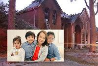 Tři děti (†5, †8, †11) a babička (†75) zemřely při požáru: Chtěly se zahřát ohněm, když vypadl proud