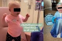 Vážně nemocná holčička se stala hvězdou TikToku: Tanečkem v nemocnici získala miliony fanoušků