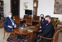 Delegace z ODS na Hradě: Zeman podepíše pandemický zákon urychleně, říká Fiala