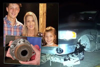 Maminku zabilo kolo uvolněné z jiného auta, na místě byla mrtvá. Zůstaly po ní dvě děti