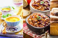 Nejlepší chilli con carne, polévka se zázvorem a jako dezert skořicoví šneci! Tady jsou recepty!