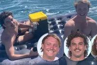 Mladíci naložili matračku pivem a ztratili se na moři. Z bryndy je musel vytáhnout kámoš