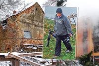 Nebezpečná ruina po vrahovi Blažkovi, který zabil 6 lidí: Vydražil ji detektiv a nestará se o ni