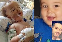 """Chlapeček (2) měl nateklou hlavu rakovinou. Lékaři: Je to jen nějaký """"bacil"""". Až po půl roce prozřeli!"""