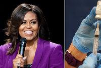 Obamová promluvila o depresi během lockdownu a slídění u pokojů dcer. A vyzvala k očkování