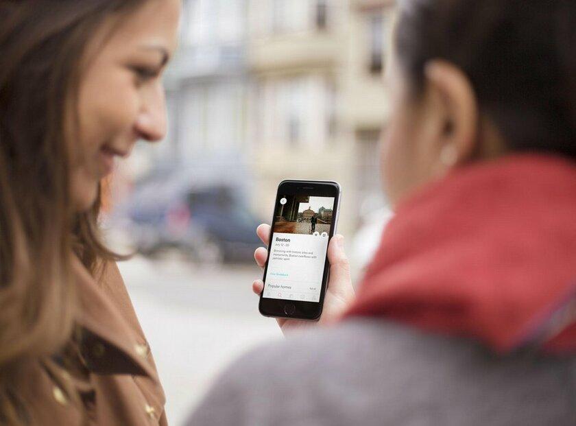 Mobilní aplikace Airbnb