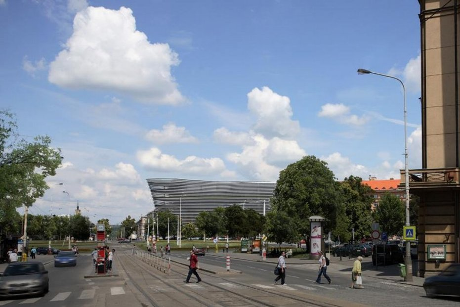 Vizualizace nové budovy na Vítězném náměstí