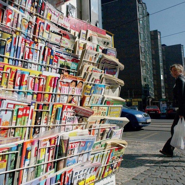 Časopisy, noviny, ilustrační foto