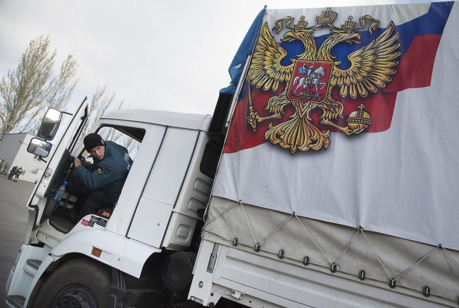 Rusko vyslalo do Donbasu další konvoj (foto z 31.října 2014)
