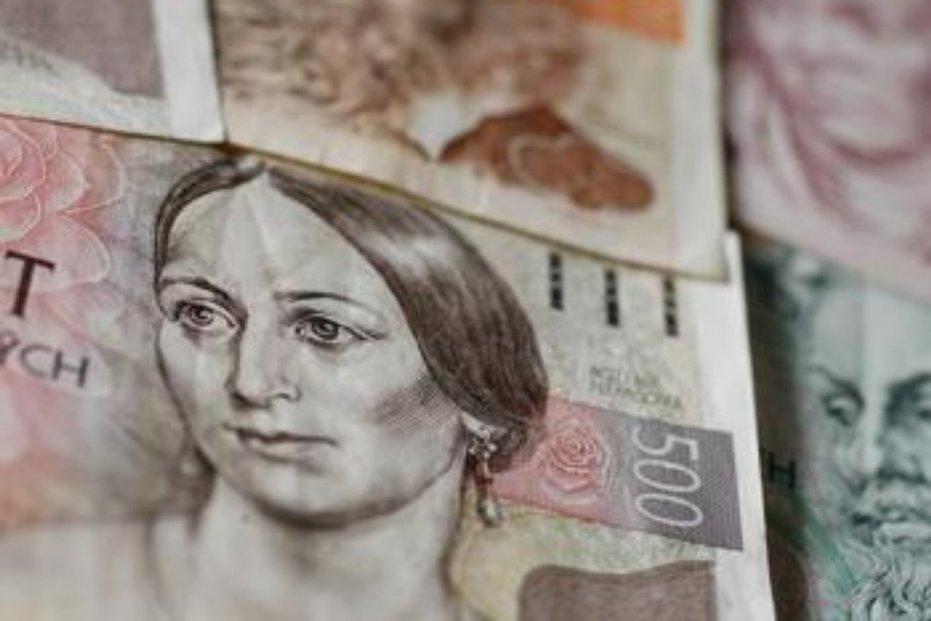 koruna, peníze, dluhy