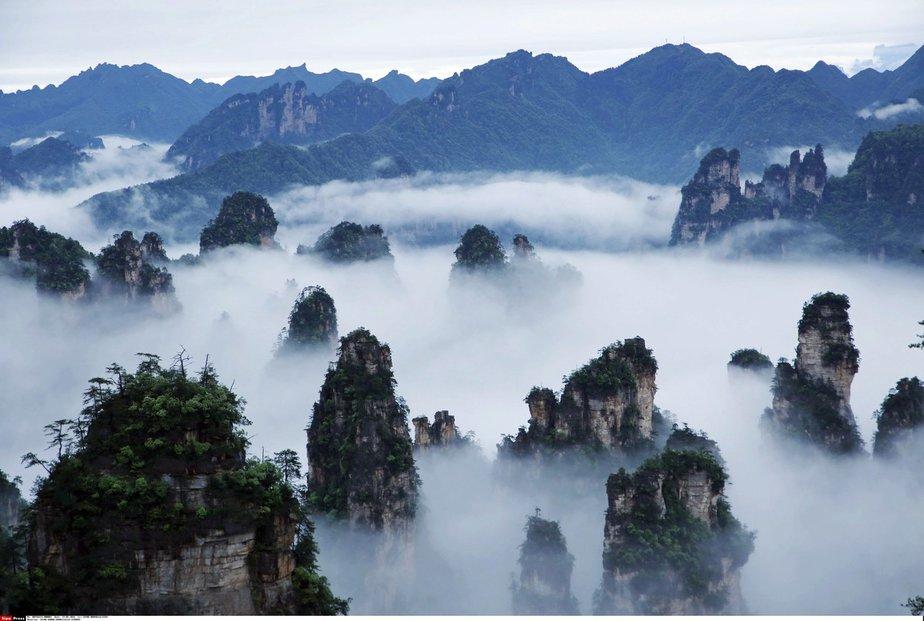 Čínský národní park Čang-ťia-ťie byl hlavní inspirací pro prostředí slavného filmu Avatar Jamese Camerona.