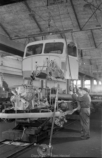 Výroba vozu Škoda 706R