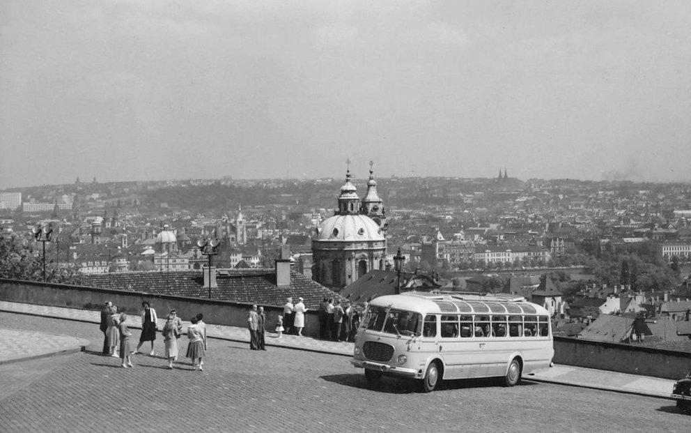 Výlety autobusem v šedesátých letech