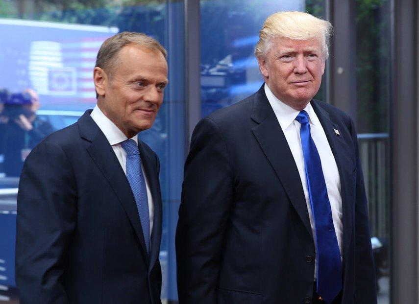 Donald Trump a Donald Tusk v Bruselu