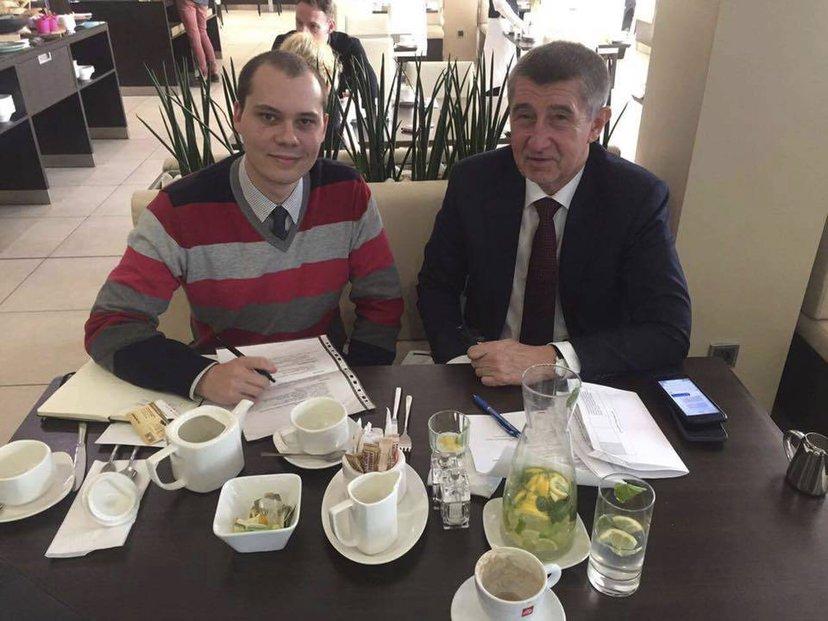 Jiří Till s Andrejem Babišem