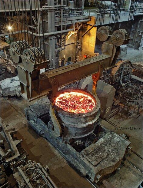 Pánev v Třineckých železárnách