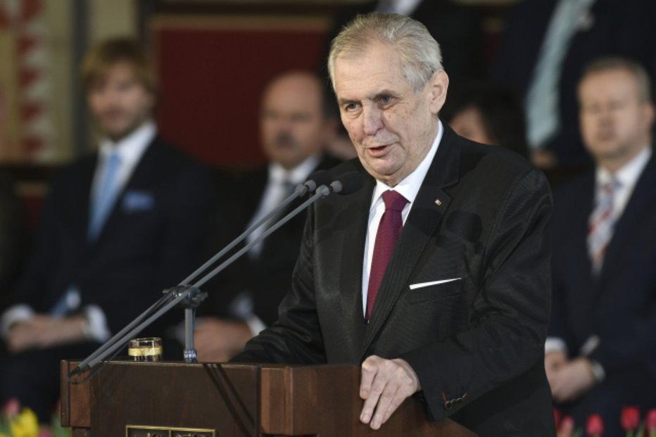 Miloš Zeman během inauguračního projevu