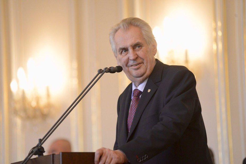 Prezident Miloš Zeman na sjezdu Strany práv občanů