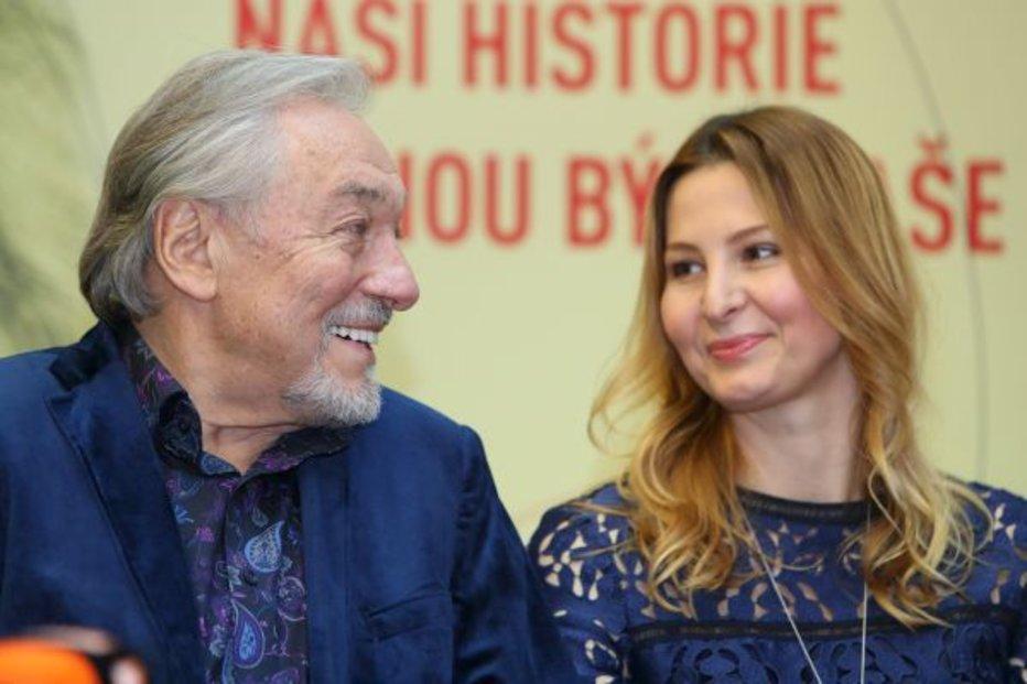 Karel Gott s manželkou Ivanou Gottovou