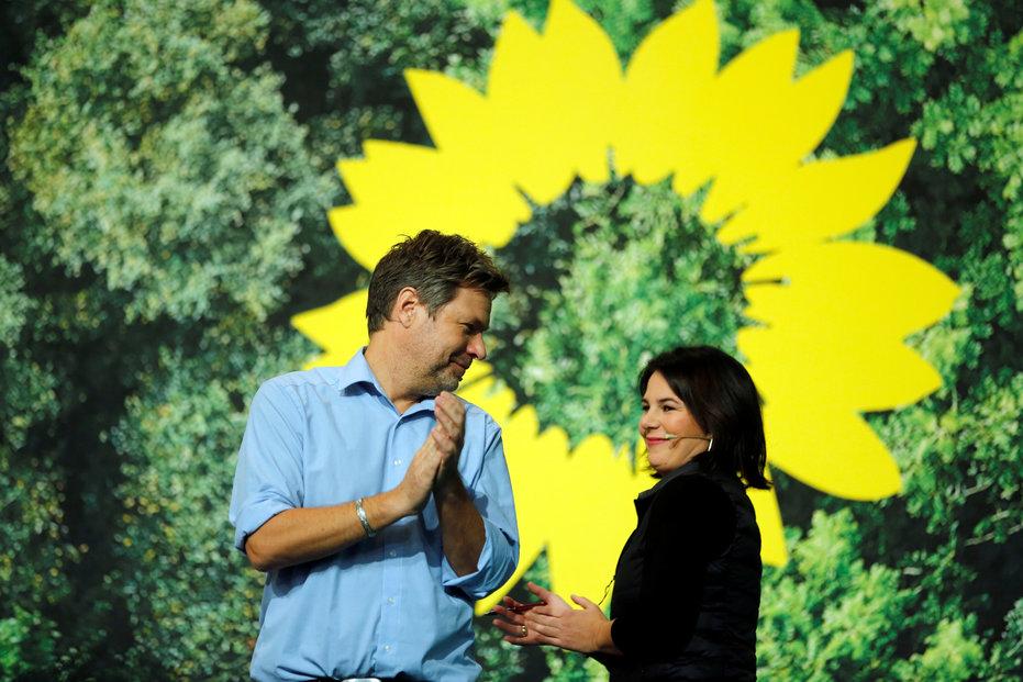 V čele německých Zelených stojí Annalena Baerbocková a Robert Habeck