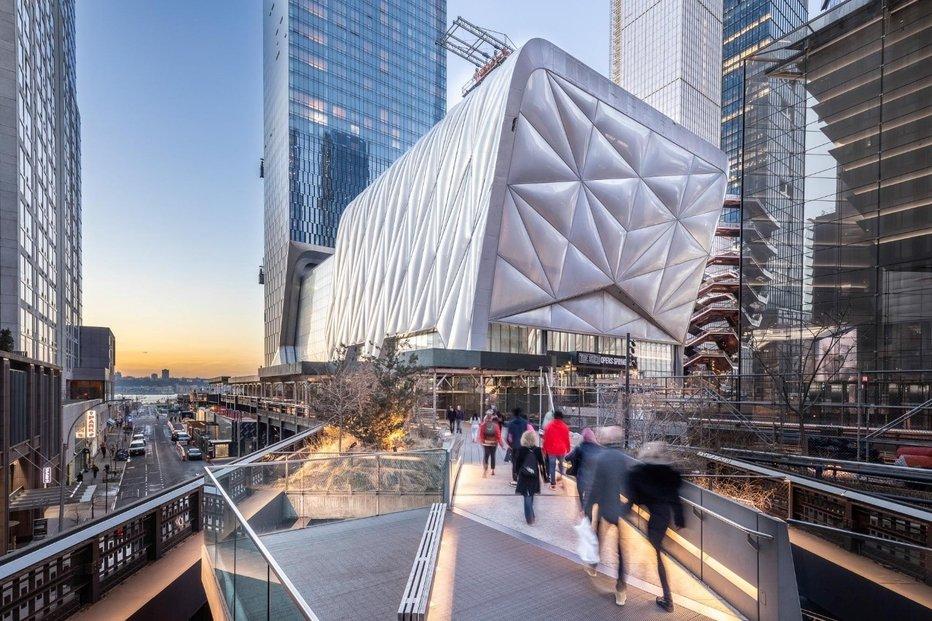 Architektonické studio Henning Larsen vypracovalo celou řadu projektů: kulturní centrum The Shed v New Yorku.