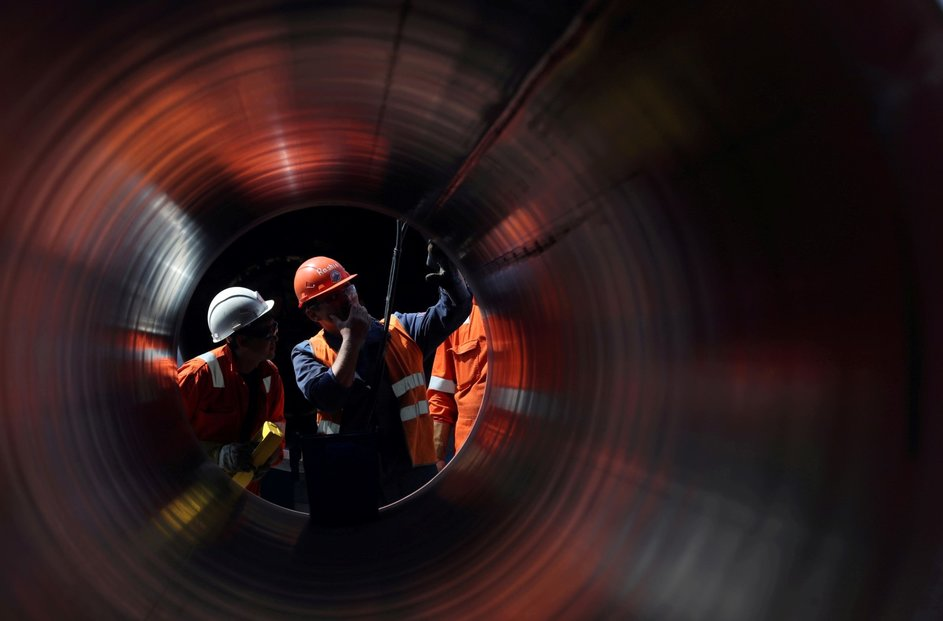Stavba plynovodu Nord Stream 2, který má do Německa brzy přivádět ruský plyn