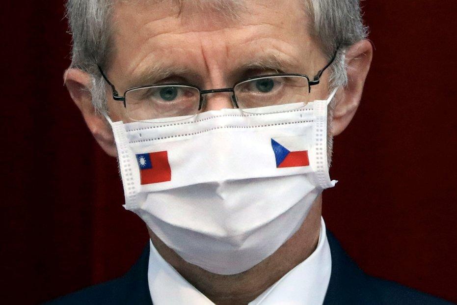 Předseda Senátu Miloš Vystrčil během návštěvy na Tchaj-wanu