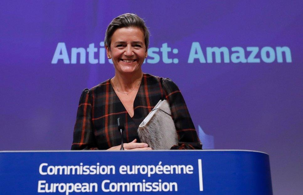 Eurokomisařka Margrethe Vestagerová dlouhodobě usiluje o zavedení digitální daně.