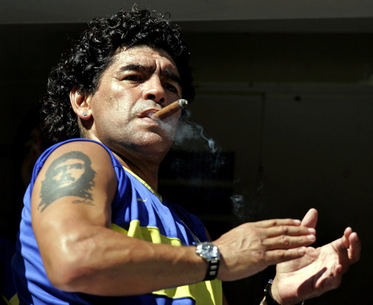 Diego Maradona nedodržoval přísně životosprávu.