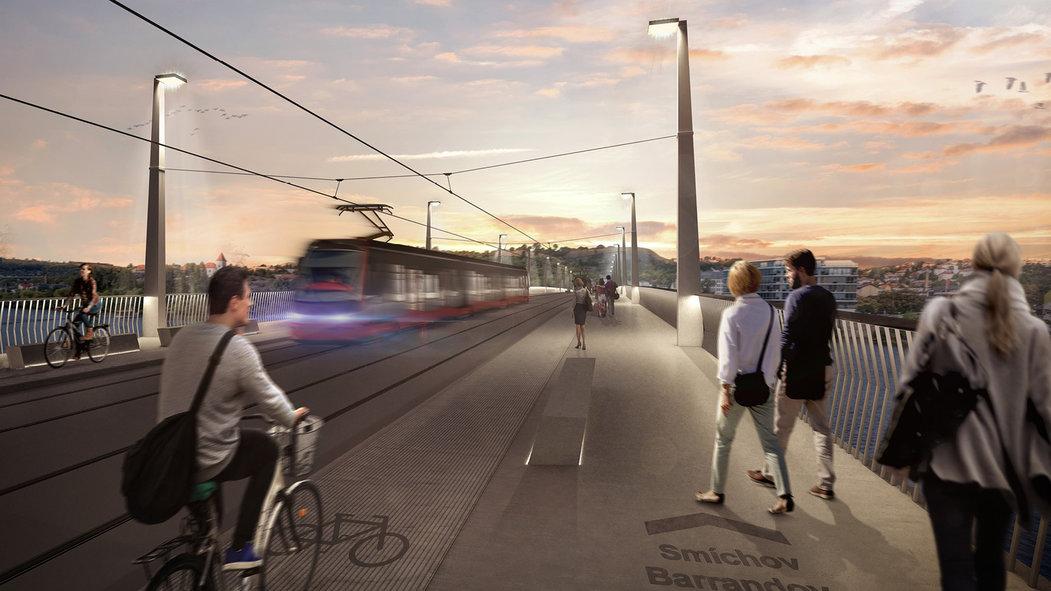 Tramvajové vedení bude součástí sloupů veřejného osvětlení