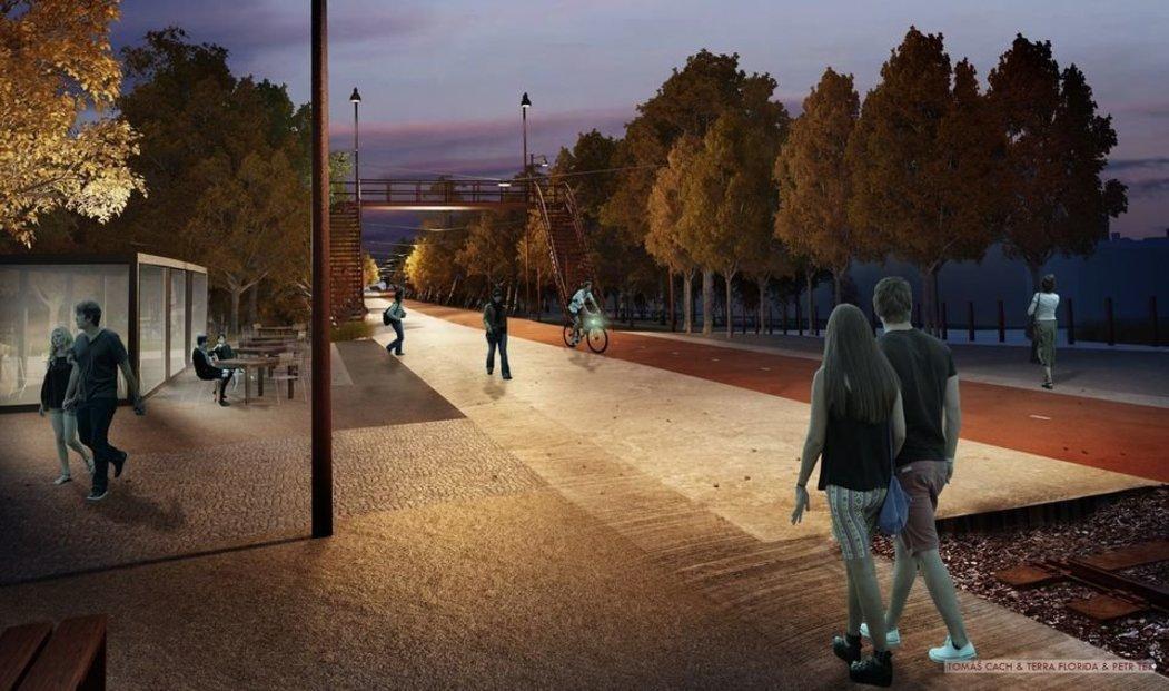 Vizualizace plánovaného Drážního koridoru