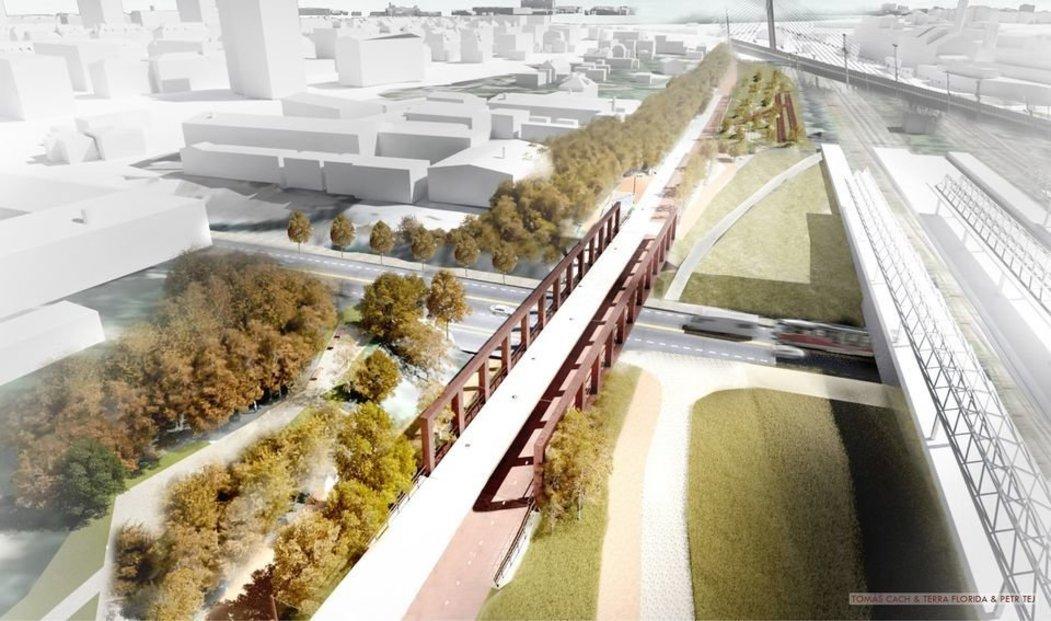 Staré kolejiště nahradí moderní městská promenáda s přírodními prvky
