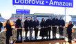 Amazon otevřel v Dobrovízi železniční stanici