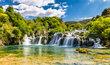 Nejfotografovanější vodopád v národním parku Krka v Chorvatsku