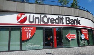 Česká a slovenská UniCredit zvýšila zisk o více než třetinu