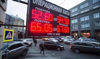 Rubl posiluje, ruská centrální banka mu dál pomáhá