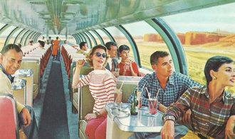 Lesk a zašlá sláva železnice před 70 lety. Podívejte se, jak se tehdy cestovalo?