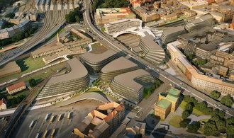 Součástí velkého projektu Penty kolem Masarykova nádraží bude i střešní nadchod, zřídí jej SŽDC