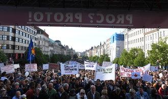 Tisíce lidí protestovaly proti duu Zeman - Babiš