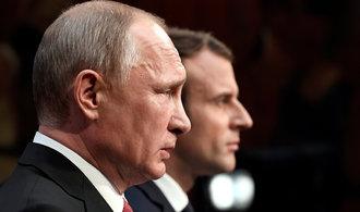 Macron vyzval kvůli situaci v Sýrii k dialogu s Moskvou